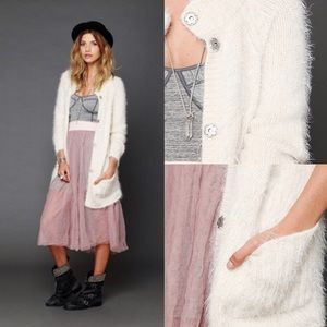 Keep it Fuzzy Free People Snap Up Sweater